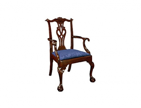 Chippendale Ball Nu0027 Claw Dining Room Chair #112