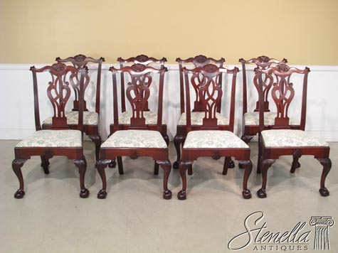 Stenellaantiques set 8 baker colonial williamsburg mahogany dining chairs sxxofo