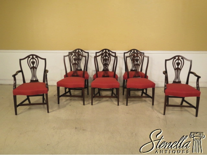 Set Of 8 KITTINGER Historic Newport Mahogany Dining Room Chairs. www stenellaantiques com