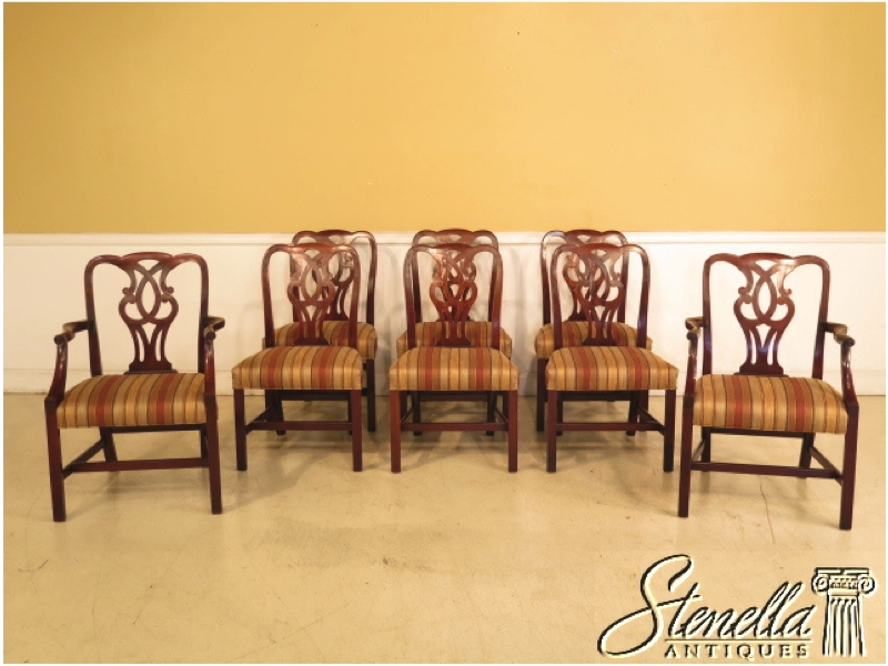 Stenellaantiques set of 8 baker chippendale mahogany dining room chairs vintage sxxofo