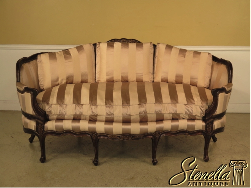 Descriptions Item 26445e Ej Victor Large French 8 Legged Sofa