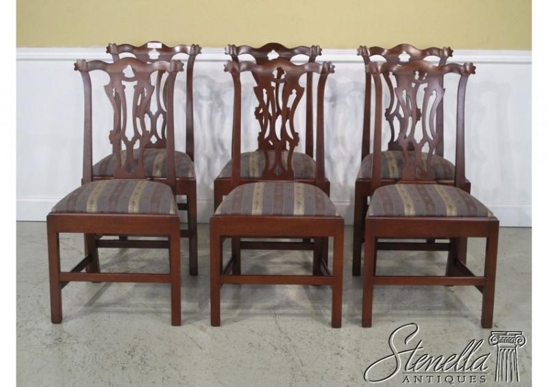Set Of 6 BIGGS Thomas Jefferson Mahogany Dining Room Chairs