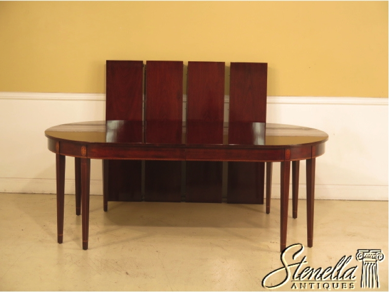 KINDEL Inlaid Mahogany Federal Style Dining Room Table