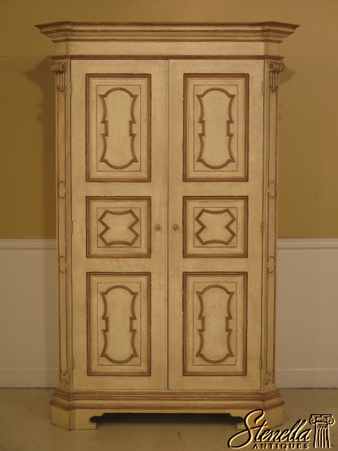 BAKER Northern Italian Collection Paint Decorated TV Bedroom Armoire