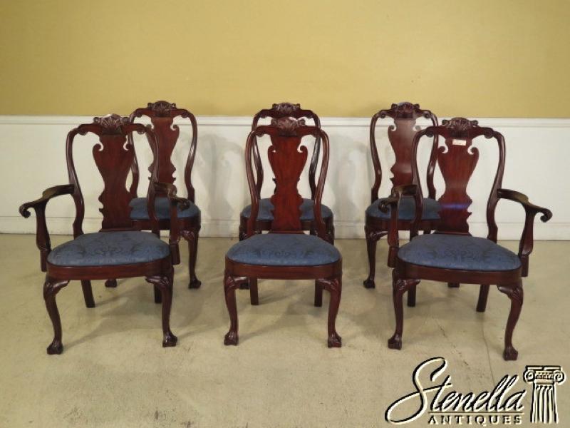 Wonderful Set Of 6 HENKEL HARRIS Model 103 Mahogany Dining Room Chairs