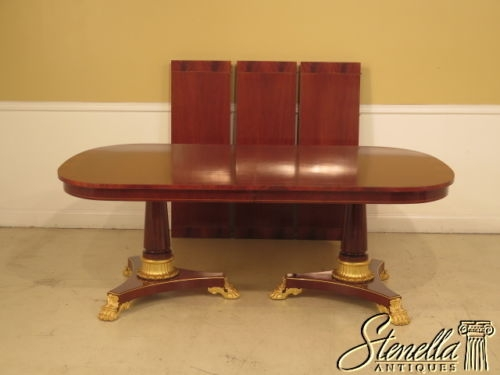 KINDEL Neoclassical Mahogany Dining Room Table